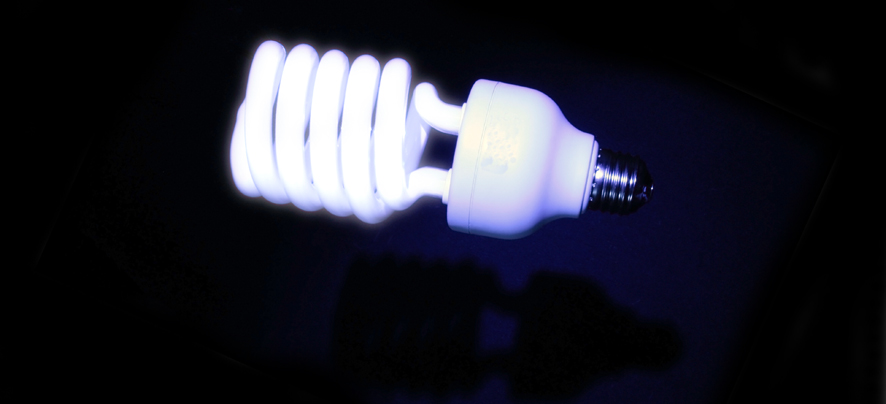 How to dispose of a low-energy light bulb