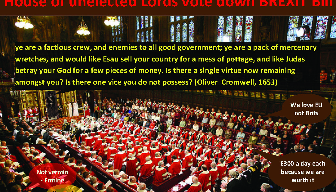 HOW DARE THE HOUSE OF LORDS DO THIS?