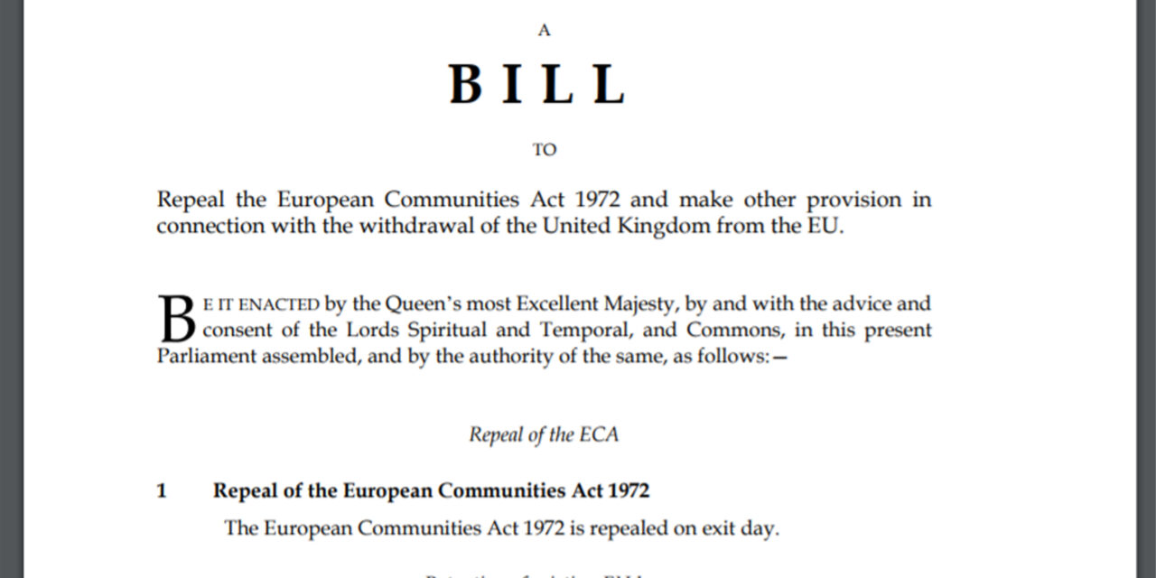 The So-Called Great Repeal Bill