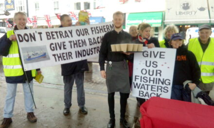 Brixham Rally in support of Fishing for Leave
