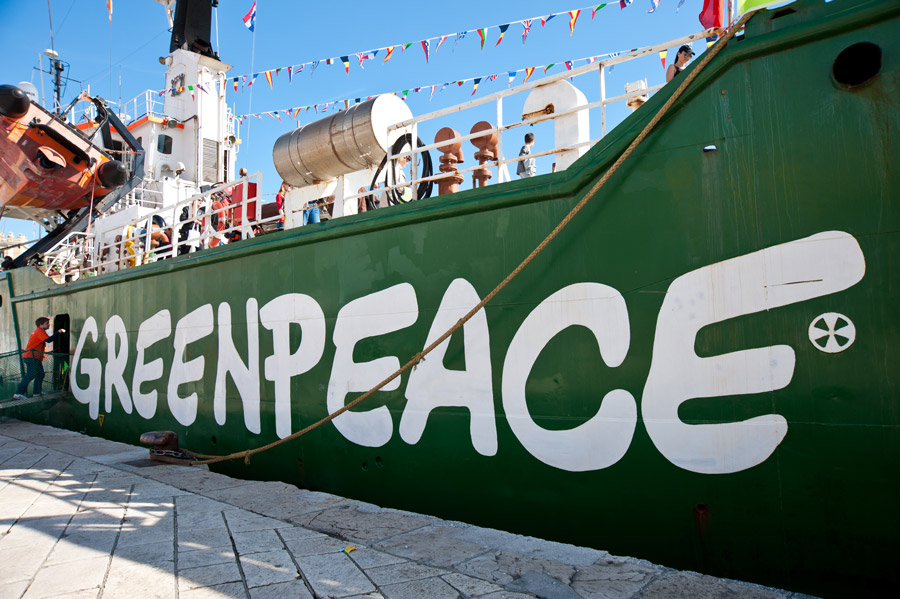 BEING GREENPEACE MEANS NEVER HAVING TO SAY YOU'RE SORRY