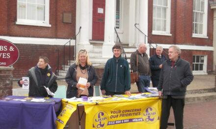 Poole High Street UKIP Stall