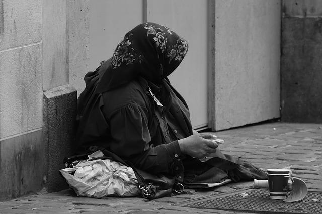 The eyes of a beggar