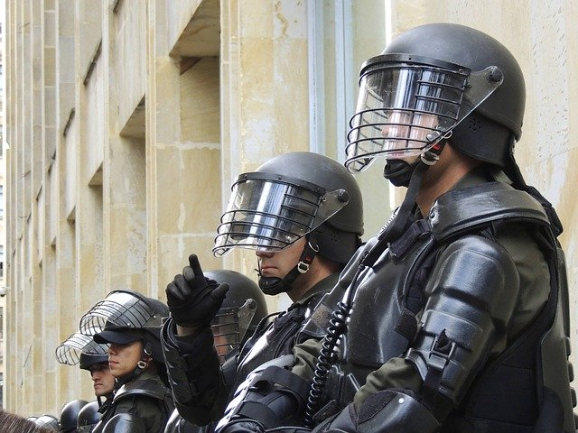A trial run for 'our' police state?