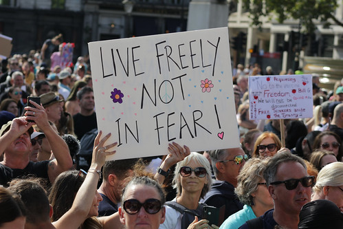 On Saturday's anti-lockdown protests